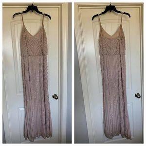 Beaded light pink/nude bridesmaid dress